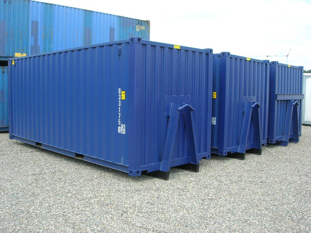 Nieuw - Op slede Zeecontainer 20ft