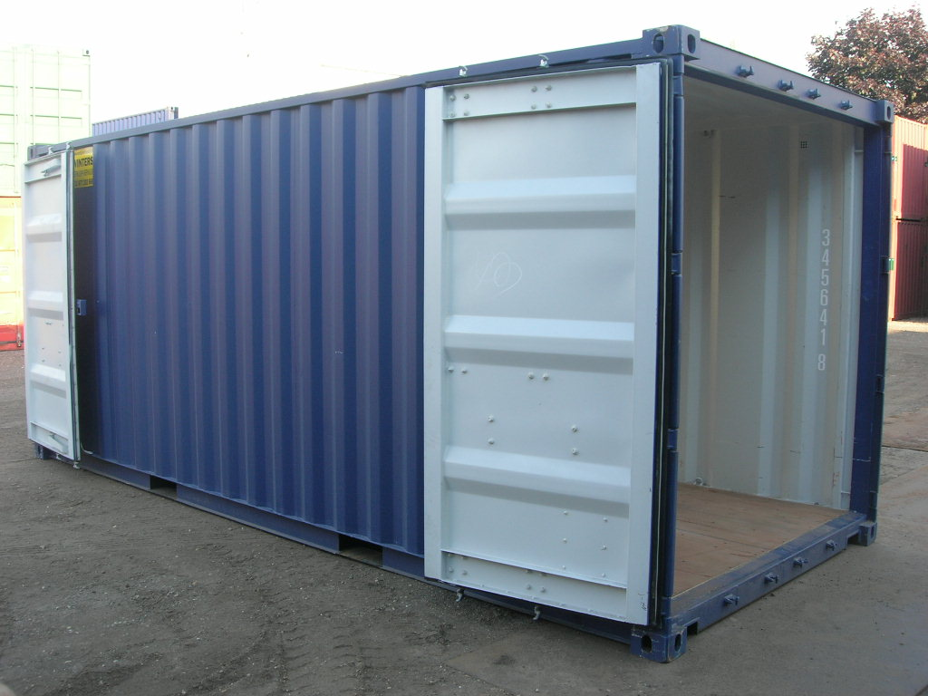20ft double doors