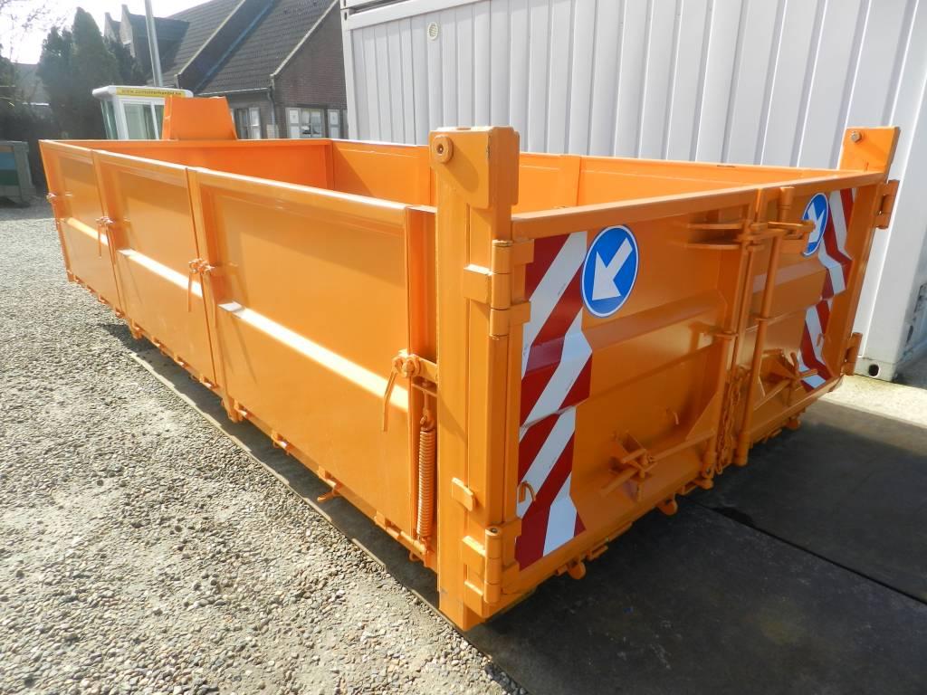 Afvalcontainer met stalen zijborden